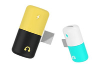 ingrosso mini miniatura-Adattatore per adattatore 2 in 1 per adattatore mini pillola in miniatura per iPhone 7 Adattatore audio per ricarica per telefono X 8Plus Adattatore per cuffie splitter per cuffie