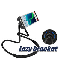 Wholesale cell phone functions resale online - Lazy Bracket Universal Cell Phone Holder Lazy Hanging Neck Phone Stands DIY Free Rotating Mounts With Multiple Function Opp Package