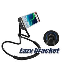 drehen sie die halterung großhandel-Lazy Bracket Universal Handy-Halter Faule hängende Neck Stand steht DIY Free Rotierende Halterungen mit mehreren Funktionen Opp-Paket