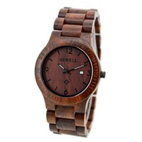Wholesale wooden watch bewell resale online - BEWELL Male Ultrathin Wooden Watch Stylish Quartz Wrist Watch Ornament Valentine s Day Gift with Gift Box