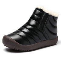 sapatos de patente de couro neve venda por atacado-2018 inverno botas de neve de inverno novo estilo do bebê quente algodão-acolchoado sapatos sapatos de couro de alta qualidade à prova d 'água