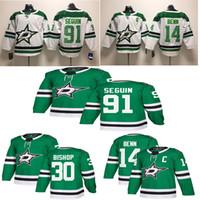 Wholesale tyler seguin jersey resale online - 2019 New Season Dallas Stars Jersey Jamie Benn Tyler Seguin Ben Bishop Green White Stitched Hockey Jerseys