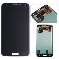 lcd pour samsung galaxy s5 achat en gros de-NOUVEAU Pour Samsung Galaxy S5 (SM-G900F) Assemblée Digitiseur LCD Luminosité réglable en une journée Livraison gratuite DHL blanc dnd noir