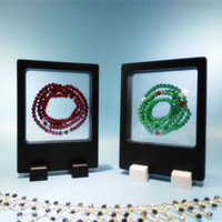 Wholesale membrane display resale online - Rectangle Elastic Membrane Jewelry Set Clear Show Case For Counter Top Ring Earring Bracelet Bangle Chain Display PET Gift Box