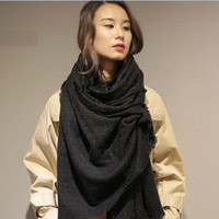 Wholesale production factories - Cashmere factory production wholesale and wholesale wool scarf SWR0329 fashion silk color point must shawl