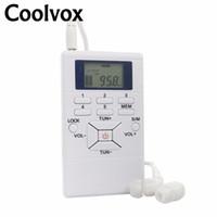 radyo anteni kur toptan satış-Coolvox CRD-302 Taşınabilir Multiband Stereo Dijital Tuner FM / Kısa Dalga Radyo REC Harici Anten Inşa-In Ile Kulaklık