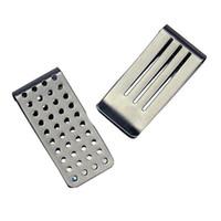 визитки металлические кошелек оптовых-1PC  new Stainless Steel Metal Business Card  Cash Wallet Hollow out Money Clips Money Clip