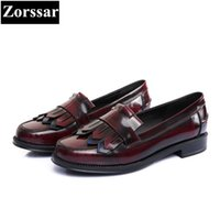 ingrosso zapatos oxford donne-PLUS size 33-41 brogue oxford scarpe donna appartamenti scarpe 2017 moda nappa donne sapatos femininos sapatilhas zapatos mujer