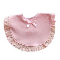 Wholesale White Cotton Aprons Wholesale - Newborn Toddler Infant Baby Kids Girls Bowknot Lace Bibs Saliva Cartoon Towel Aprons Baby Bibs Burp Girls Boys M1