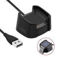 usb-datenuhr großhandel-Ladestation Dock USB-Datenkabel Basis Desktop-Ladegerät für Fitbit Versa Watch