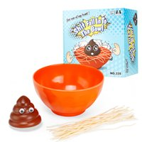 Wholesale Desktop Bowling - Shit Fall Into The Bowl Tricky Punishment Desktop Dismantling Noodles Games Party Interactive Novelty Plastic Toy 10 2yy W