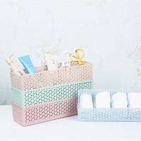 упаковка для бюстгальтера оптовых-5 Cells Plastic Organizer Storage Box Tie Bra Socks Drawer Cosmetic Divider Jewelry Packaging 11.6