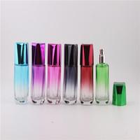 farbige parfumsprayflaschen groihandel-50 ml spray farbige mini reise parfüm zerstäuber nachfüllbare spray leere parfümflasche einfach zu bedienen aluminium glas mini parfüm