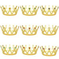 ingrosso gemme dei monili dei capelli-Bambini Principessa Accessori per capelli gemme colorate Corona neonate Natale Halloween Cosplay principessa gioielli C4694