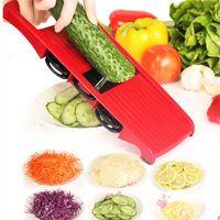 kartoffelzerkleinerer manuell großhandel-Multifunktions-Gemüseschneider sechs in einem manuellen Kartoffel-Karotten-Schredder-Haushalts-Arbeit, die Küchen-Gerät-Qualität 18nc CB speichert