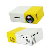 iphone mini projektörler toptan satış-Ev için 1080 P Pico Projektör Mini Cep Projektör Sinema Sinema Video Parti Kamp Desteği iPhone Dizüstü Smartphone LED LCD Projektörler