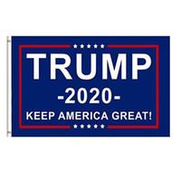 traje donald venda por atacado-90 * 150 cm Trump Bandeira 2020 Manter a América Grande Novamente Donald para o Presidente EUA Americano Eleição Presidencial Flags Halloween Cosplay trajes