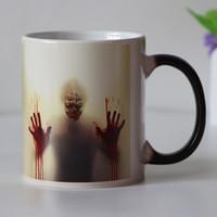 blutige hände groihandel-Handgriff Neueste Design Zombie Farbwechsel Kaffeetasse Wärme Senstive Tasse Tassen Walking Dead Bloody Hands Geschenk