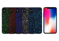 glaçage anti achat en gros de-Coque complète en dur 360 Star Body Anti-Knock Sky Starry Givré pour iPhone X XS Max XR 8 8 6