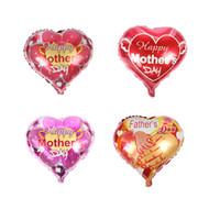 ingrosso nuove forme di palloncino-New Father and mother Love heart shape Mama balloons happy mother's day Palloncini con foglio di alluminio Palloncini festa di compleanno globol
