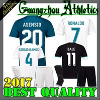 Wholesale Youth Ronaldo Jerseys - 17 18 Real Madrid kids adult home away soccer jersey kits youth boys child jerseys kits 2017 2018 RONALDO BALE ISCO MODRIC football shirts