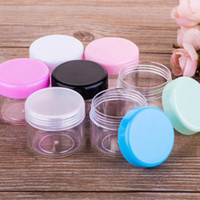 Wholesale Bulk Cosmetics - 20ml cream Jar boxes 20g Empty Plastic Cosmetic Container Small Sample Makeup Cream Lotion Cosmetic Essential Oils Diffusers