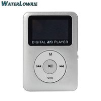 Wholesale Portable Media Speakers - Waterlowrie LCD Screen MP3 Mini USB MP3 Music Media Player Support 8GB Micro SD TF Card Built-in speaker Portable Sport MP 3