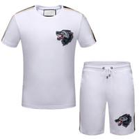 Wholesale Woven Pants - 2018 New Summer Men Set 2PC Sporting Suit Short Sleeve T shirt+Shorts Two Piece Set Sweatsuit+Pants Quick Drying Tracksuit Men sweat suit