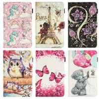 Wholesale cartoon tablets covers resale online - Cartoon Flip Cover for Samsung Galaxy Tab A T580 T585 T590 T595 T830 T835 T280 T285 T377 T375 T560 kickstand Tablet PC Cases