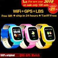 Wholesale Watch Phone Touch Screen Wifi - Q90 GPS Phone Positioning Fashion Children Watch 1.22 inch Color Touch Screen WIFI SOS Smart Watch Baby Q80 Q50 Q60 Find