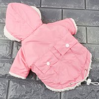 Wholesale french parka - Winter Dog Clothes For Small Dogs Warm Pet Dog Down Parkas Clothing For French Bulldog Pug Clothes Winter Chihuahua Coats 30Q