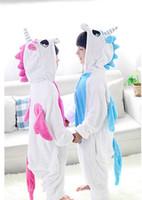 trajes de animales al por mayor-Franela animal cosplay traje ropa de dormir unicornio niños manta traviesas niños ropa de dibujos animados animal onesies pijamas 11 colores