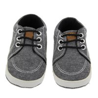 Wholesale sport first walkers online - Baby Boys First Walker Infant Elastic Band Sport Shoes Toddlers Solid Hightops Antiskid Middle Tube Prewalker Newborn Soft Sole Cotton