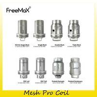 quad double großhandel-Authentic FreeMax Mesh Pro Spulenkopf S316L Einzel 0,12 Ohm Doppel 0,2 Ohm Triple Quad 0,15 Ohm Ersatz-Maschendrahtspulen 100% Original