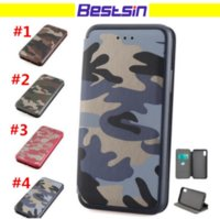 Wholesale Military Hard Case - Camouflage Army Leather Flip Style Case Solider Spirit Hard Soft Combo Military Antishock Cellphone Case for iphone and Samsung DHL Free