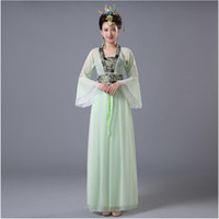 Wholesale spandex fairy costume for sale - DJGRSTER Chinese Traditional Women Hanfu Dress Chinese Fairy Dress Colors Hanfu Clothing Tang Dynasty Ancient Costume