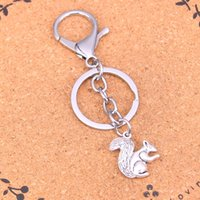 Wholesale Girls Side Bags - Fashion double sided squirrel keychain can be used for car key accessories bag accessories