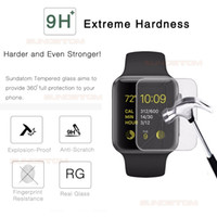 Wholesale installed packages online - Ultra thin H HD Tempered Glass Screen Protector For Apple Watch mm mm Protective Screen Film With Retail Package DHL