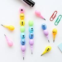 pack de plomb achat en gros de-2 pcs / pack Creative Coloré Haricot Poussoir Plomb Standard Crayon Dessin Crayons de Dessin Scolaire Bureau Fourniture Étudiant Papeterie
