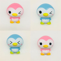 Wholesale Penguin Types - Jumbo Penguin Squishy Decompression Toys Squishies Animal Shape Slow Rebound Venting Toy Novelty Gift Blue Pink 7 9ys C