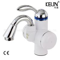 anında tanksız su ısıtıcısı toptan satış-Banyo Musluk Elektrikli Anında Isıtma Musluk Tankless Su Isıtıcı Mutfak Sıcak Elektrikli Su Isıtıcı CE