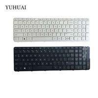 ingrosso tastiera nera hp pavilion-Tastiera NEW USB per HP Pavilion 17-N 17-E 17N 17 E R68 Tastiera per laptop inglese bianca e nera