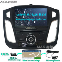 Wholesale Ford Focus Android Radio - 2G+16G Android 6.0 Car DVD Player for Ford Focus 3 Focus 2012 2013 2014 2015 with Radio BT swc GPS map WIFI