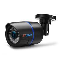 hd камера высокого разрешения оптовых-BESDER AHD аналоговый высокой четкости видеонаблюдения инфракрасная камера HD 720P AHD CCTV камеры безопасности открытый камеры AHDM