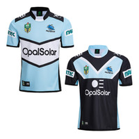 Wholesale good jackets - Top Good Quality Cronulla-Sutherland Sharks NRL 2018 XBlades Home & Away Jerseys Rugby Ball Suit Men's Adult Jacket Blue Black Size S-3XL