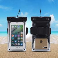 telefones celulares blackberry usados venda por atacado-Duplo-uso subaquático à prova d 'água saco case para iphone x 8 7 6 6 s plus 5S para xiaomi redmi note 4 bolsa casos de telefone móvel
