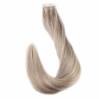 Wholesale real tapes - Tape Hair Extensions 18 613 Piano Color 100% Real Remy Brazilian Human Hair 50g 100g Skin Weft Seamless Hair Extensions
