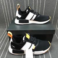 Wholesale golf r1 - NMD Hot Selling OFF Primeknit R1 Men Black White Brand Designer Fashion Sneakers Runner sports Basketball Running Shoes