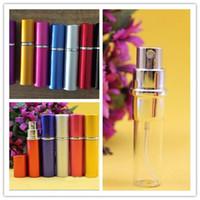 canetas de alvejamento venda por atacado-120 pcs HOTTEST 10 ml Mini Portátil Recarregável Perfume Atomizador Frasco de Spray Colorido Vazio Frascos de Perfume da moda Garrafa de Perfume