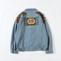 Wholesale brand motorcycle jacket for sale - Group buy Men s Denim Jacket Fashion Designer Jacket Brand Slim Motorcycle Causal Men and Women Denim Coats Hip Hop Vintage Style Denim Jacket